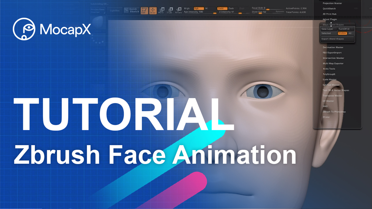 zbrush tutorial face animation mocap