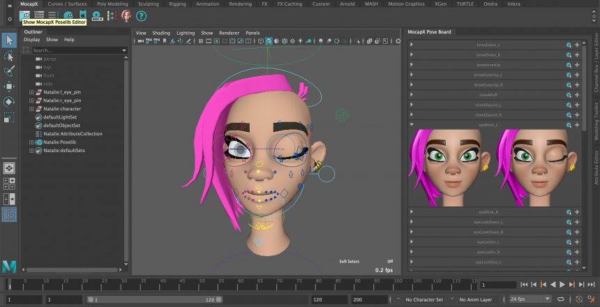 facial motion capture maya plugin